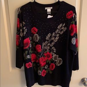 🌹New Rose fall winter sweater size 2x 🌹